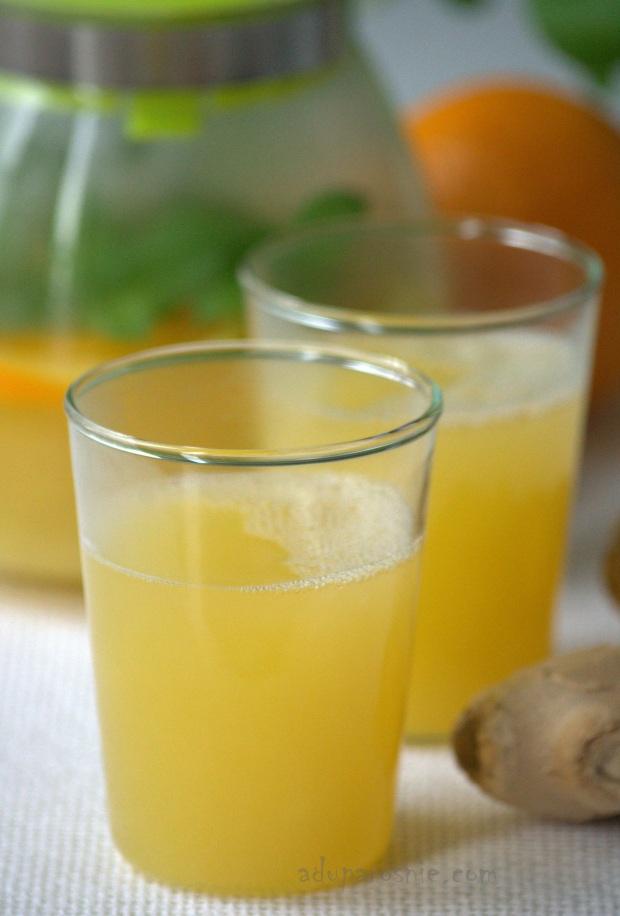 zimowy napój cytrusowo- imbirowy